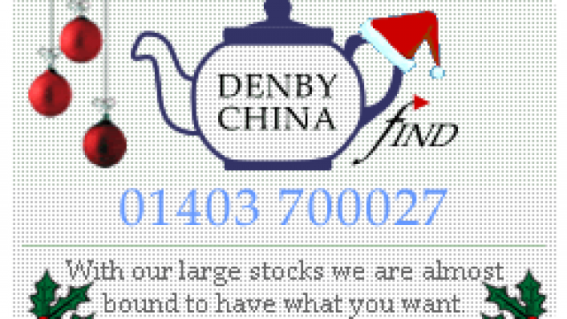 Discontinued Patterns of Denby China and Pottery : Denby China Find ,West Sussex, UK